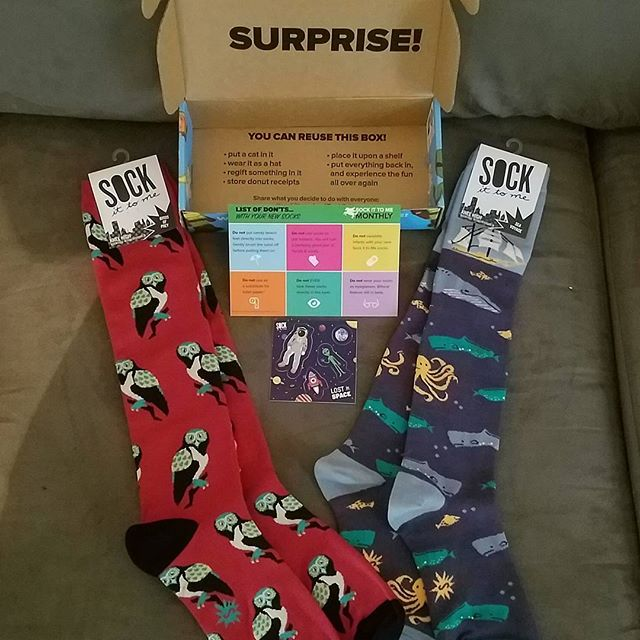 Contents of a sock subscription box