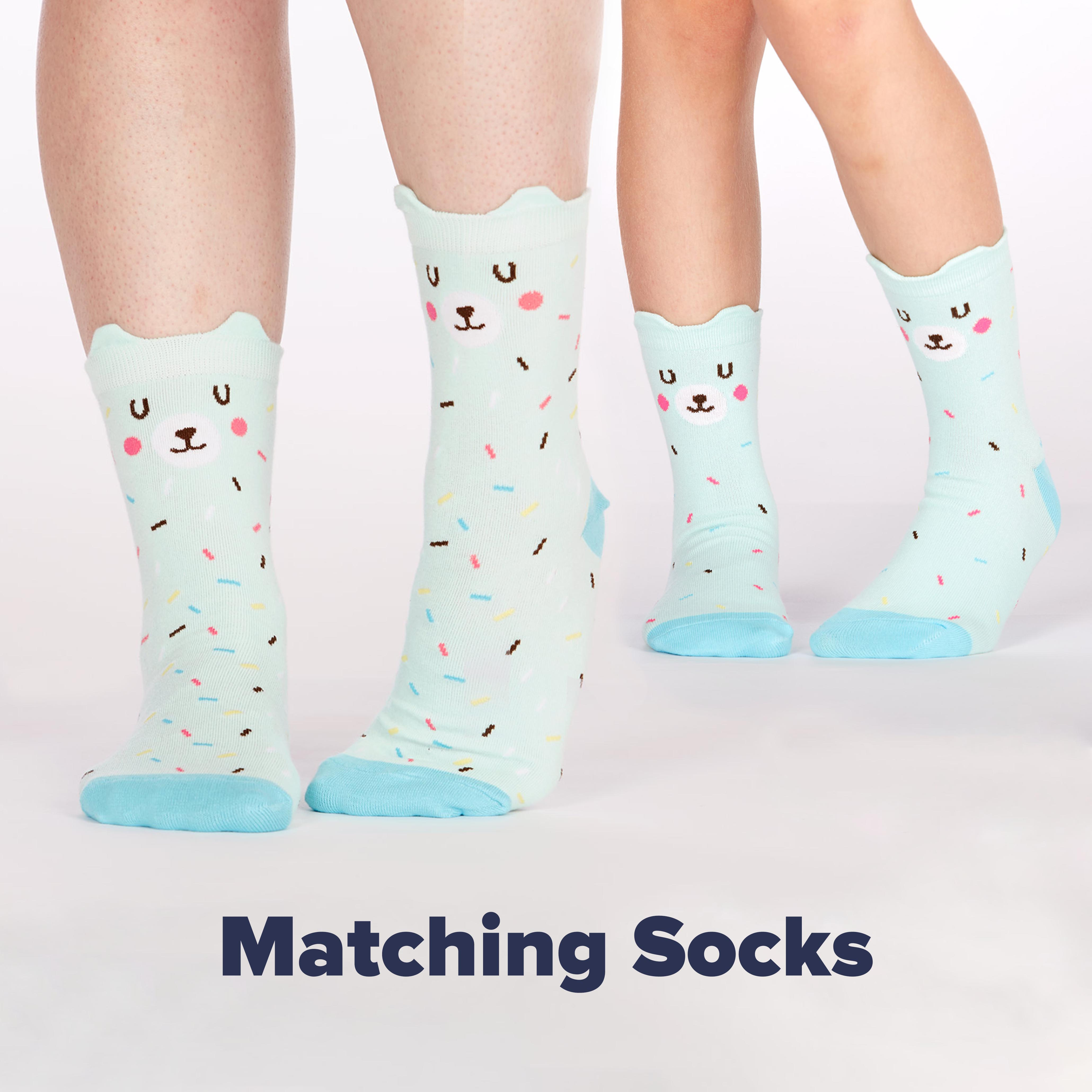 Matching Adult and Kid Bear Sock Styles